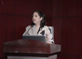 Atiqa Odho, the founder and chairperson of Focuspk gave an opening speech along with putting light on children programming